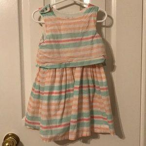 Striped pastel dress